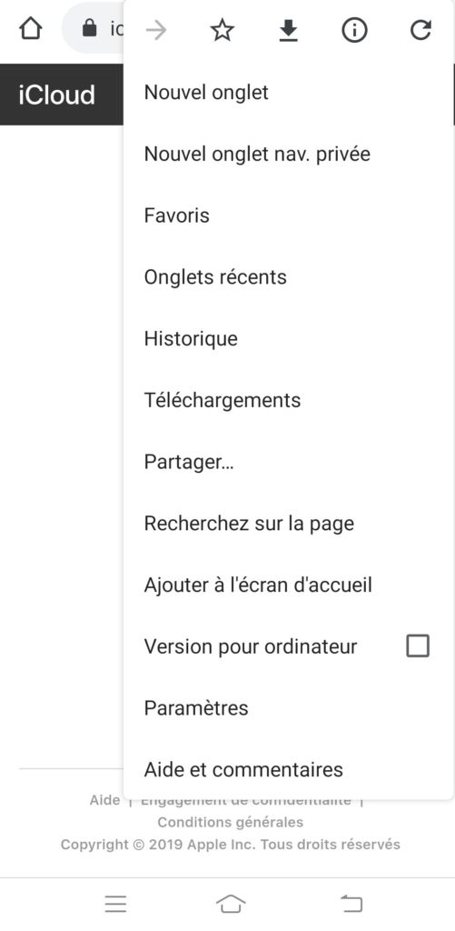 connecter icloud avec smartphone android
