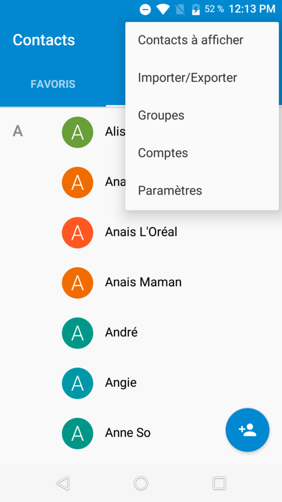 Comment transférer des contacts Android vers Android