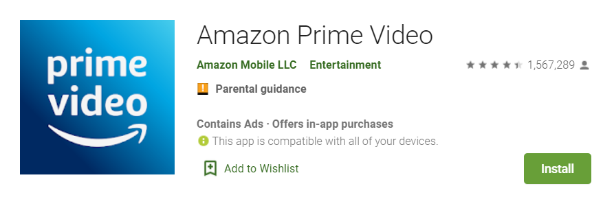 streaming amazon prime video smartphone android