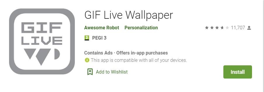 mettre un gif en fond d'écran sur smartphone android
