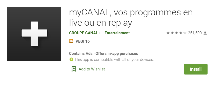 offre streaming canal android