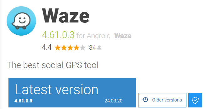 old waze version to fix display problems