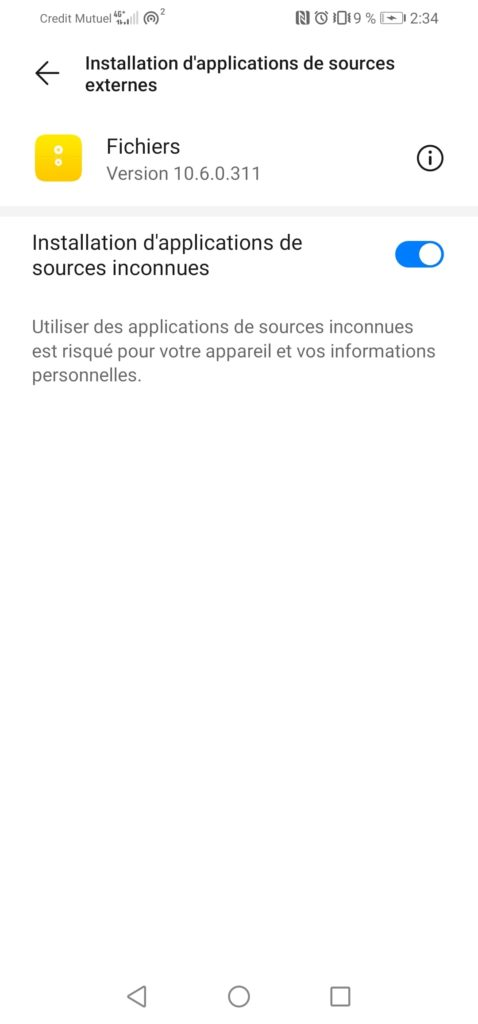 installer applications sources externes pour bloquer pubs applications Android