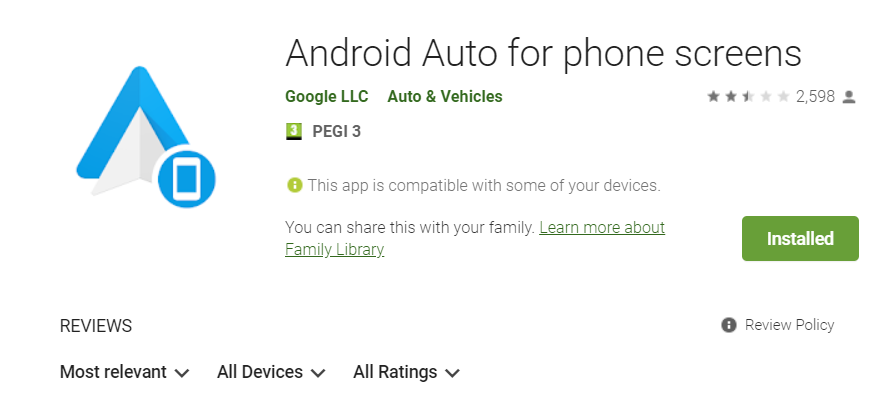 l'application android auto pour mobile android 10