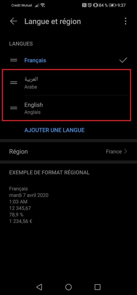 comment changer langue clavier smartphone android