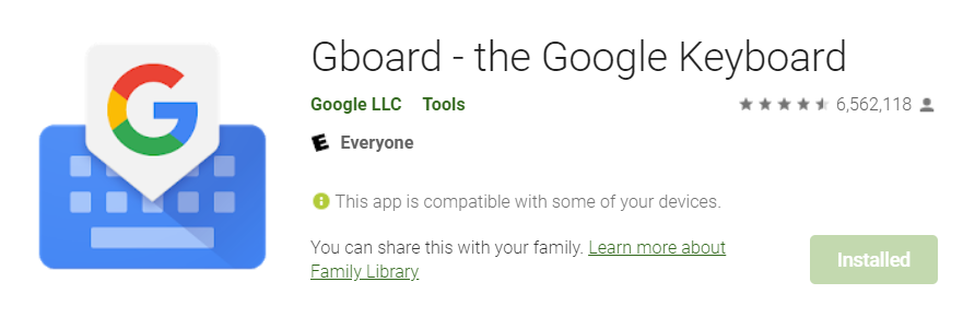 android gboard keyboard download link