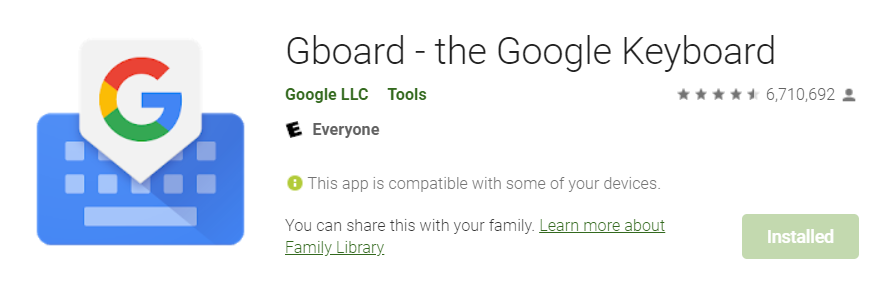 download g board on the android play store