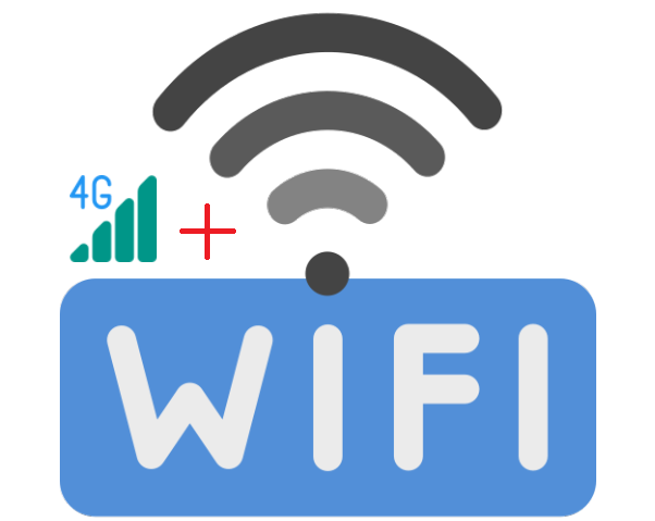 wifi and 4G logo on Android smartphone