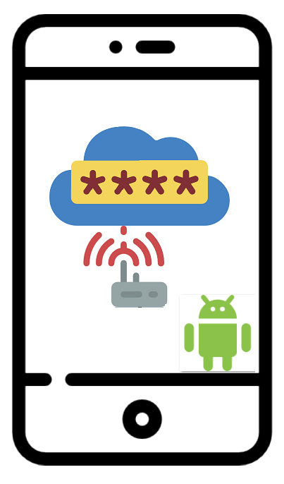Android smartphone logo find wifi code
