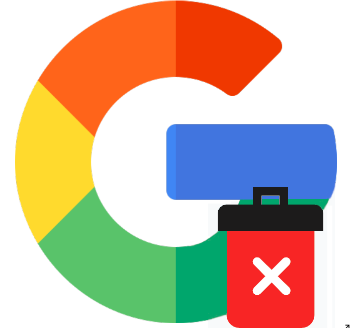 logo delete google account on android phone