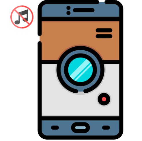 Android smartphone camera logo without its photo