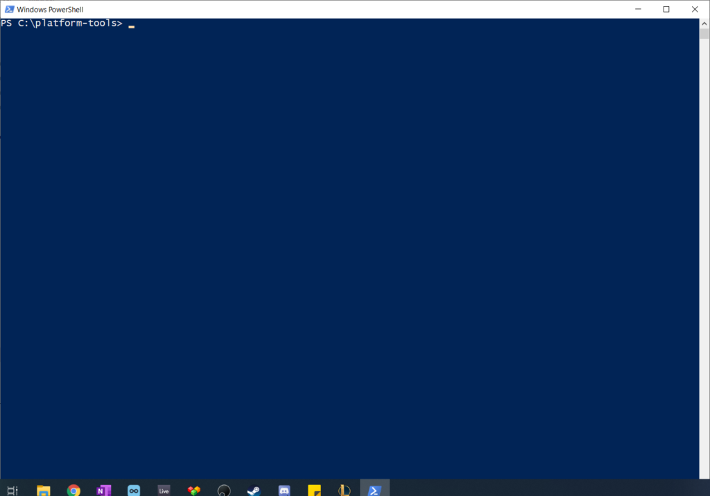 powershell windows to access the android smartphone