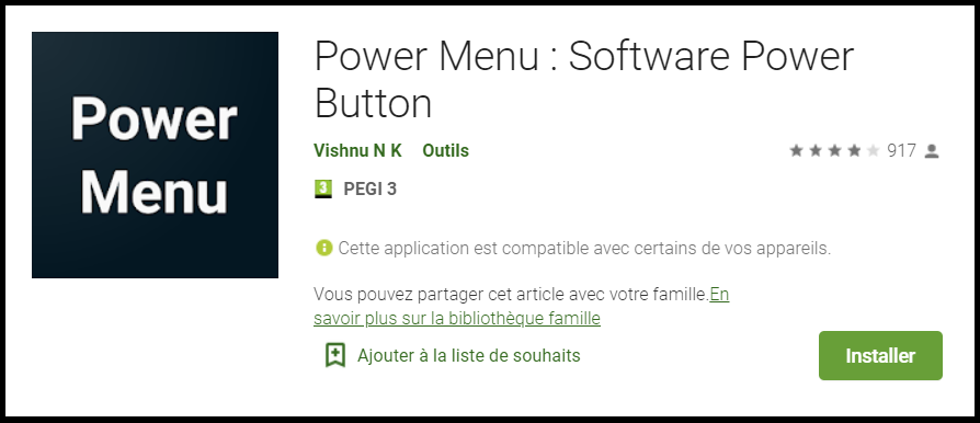 download power menu, to restart phone without power button