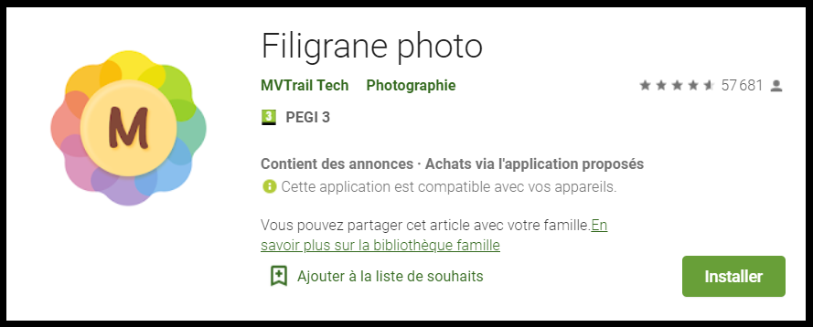 application watermark pour photos sur android